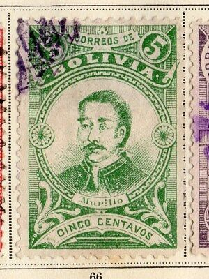 Bolivia 1897 Early Issue Fine Used 5c. 095256