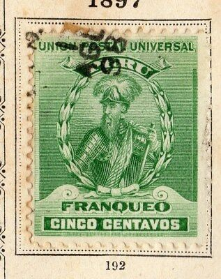 Peru 1897 Early Issue Fine Used 5c. 095332