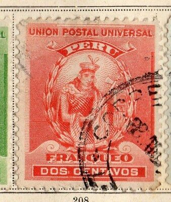 Peru 1898-99 Early Issue Fine Used 2c. 095338