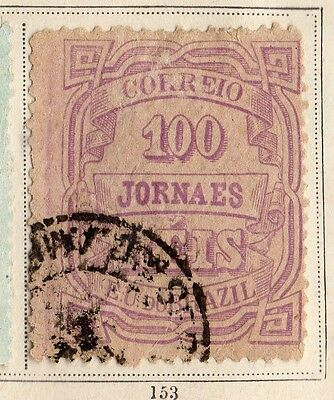 Brazil 1890 Early Issue Fine Used 100r. 095388