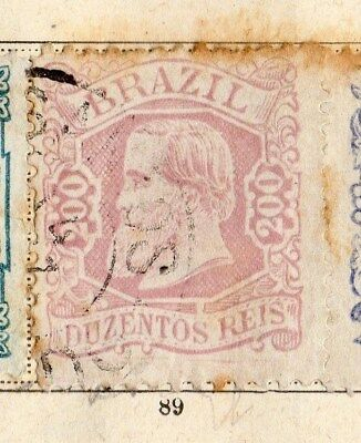 Brazil 1885-87 Early Issue Fine Used 200r. 095412