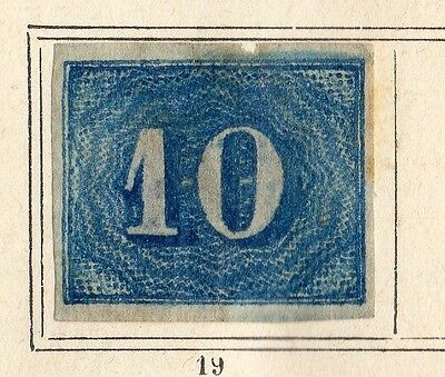Brazil 1854-61 Early Issue Fine Mint Hinged 10r. 095453