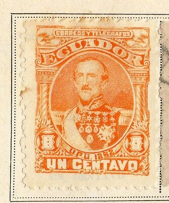 Ecuador 1892 Early Issue Fine Mint Hinged 1c. 095513