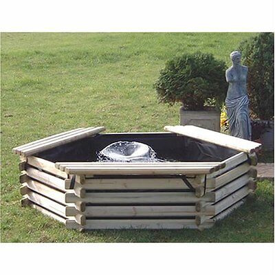 New Garden Pool 100 Gallon & Liner/pump - Fish Pond Tank Outdoor Water Feature