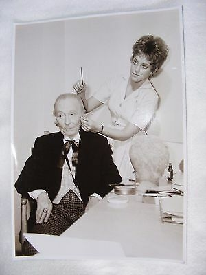 PUBLICITY DR WHO PHOTOGRAPH BLACK & WHITE WILLIAM HARTNELL MAKE UP 11 x 8 INCHE