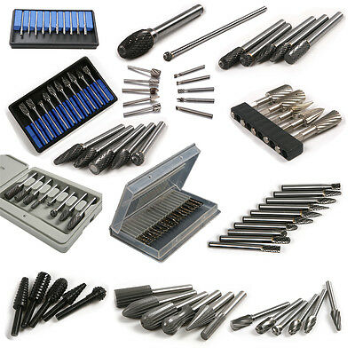 Tungsten Carbide Burr Rotary Cutter Files Set CNC Engraving 1/5/6/8/10/20Pcs