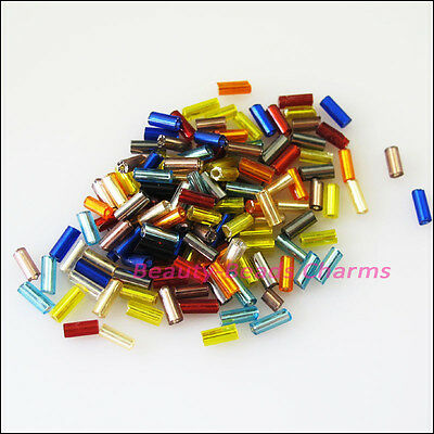 700 New Charms Tiny Tube Glass Spacer Beads Mixed 4mm