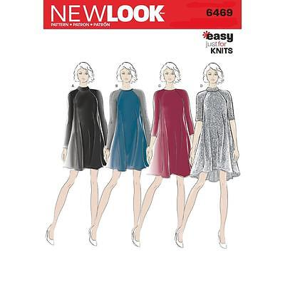 New Look Sewing Pattern Misses' Dress Easy Just For Knits Size 8 - 20 6469
