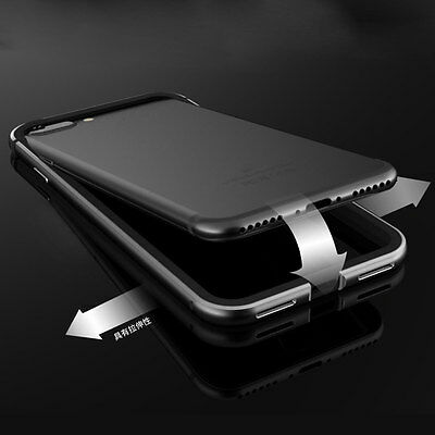 Thin Silicone+Aluminum Metal Flexible Bumper Case Cover Shell for iPhone 7 Plus