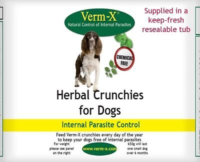 Verm-X - Herbal Crunchies for Dogs x 650 Gm Tub