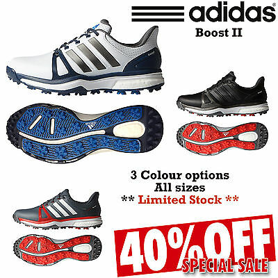 Adidas Adipower Boost 2 Waterproof Leather Spikeless Golf Shoes New 2016 *sale*