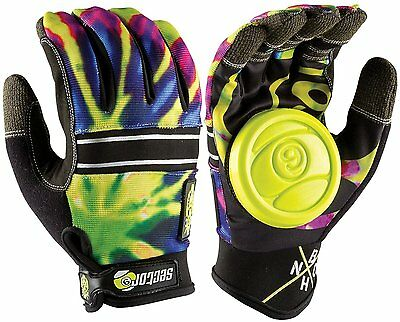 Sector 9 Bhnc Limeburst S/m Longboard Slide Gloves With Palm Pucks