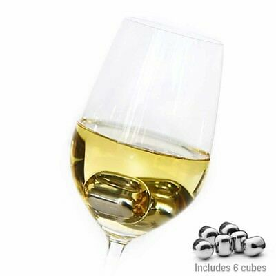 Avanti Stainless Steel Red White Champagne Beverage Wine Pearls Ice Cubes Drinks