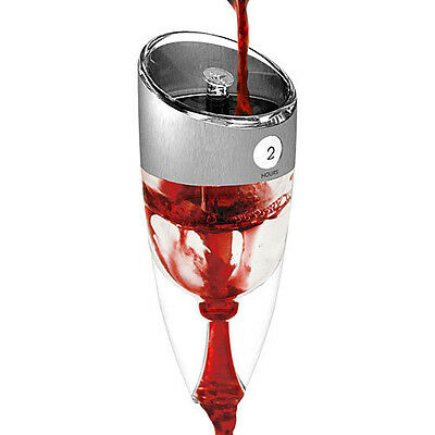 HOST Twist Adjustable Perfectly Aerates Any White Red Wine Aerator Strainer