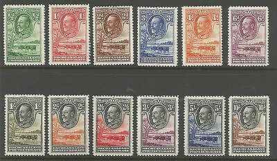 Bechuanaland Sg99-110 The 1932 Gv Set Of 12 Lightly Mounted Mint Cat £475