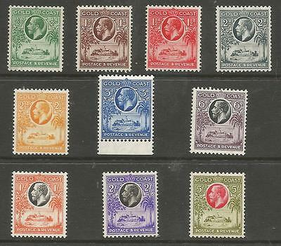 Gold Coast Sg104-112 The 1928 Gv Set Of 10 Mounted Mint Cat £110