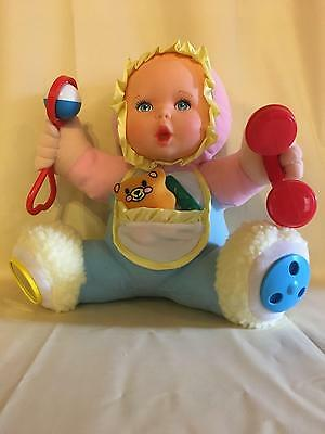 """1994 Gerber Activity 10"""" Plush Baby Doll by Toy Biz"""