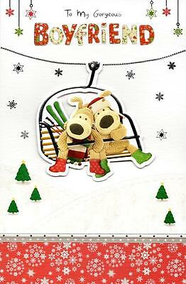 Boofle Gorgeous Boyfriend Christmas Greeting Card Embellished Special Xmas Cards