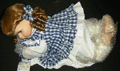 CATHAY DEPOT COLLECTION Limited Edition PORCELAIN DOLL - Blue Eyes & Dress