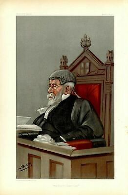 Judge At His Bench The City Of London Court Law Barrister Robert Malcolm Kerr