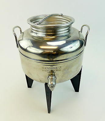 Sansone Olive Oil Container Europa Inox 18/10 Italy 5 Liter w/Stand Stainless