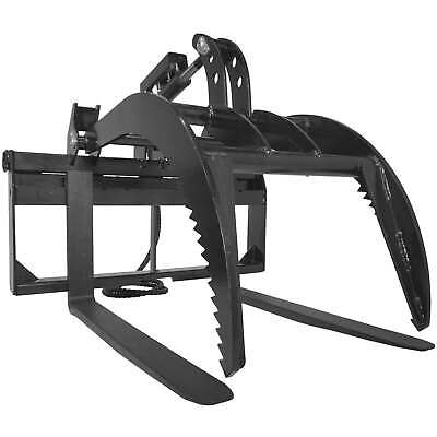 "42"" Pallet Fork Grapple Attachment Skid Steer Loader Tine Rake Bucket"