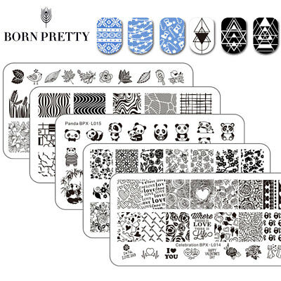 33patterns New Born Pretty Nail Art Stamping Plates Stainless Steel Template