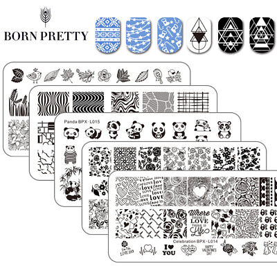 BPX-L Nail Art Stamping Plates Stainless Steel Templates  Born Pretty