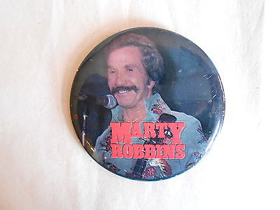 Vintage Country and Western Singer Marty Robbins Photo Pinback Button