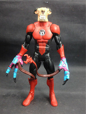 """DC Universe classic Skallox Red Lantern 6"""" loose figure B9 not complete"""