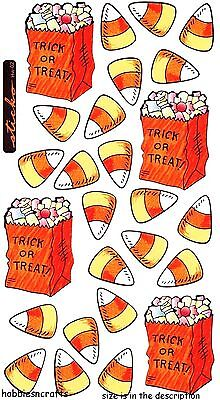 Ek Success Sticko Stickers - Candy Corn Goodie Bags Halloween Trick Or Treat
