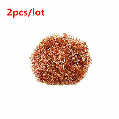 2pcs Welding Soldering Solder Iron Tip Cleaner Cleaning Steel Copper Wire Ball