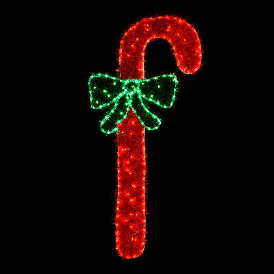 Giant Candy Cane Tinsel Rope Light Colour LED Silhouette Christmas Decoration