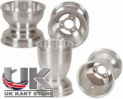 "6"" Gearbox Alloy Wheels 130mm / 210mm Set Go Kart Karting Race Racing"