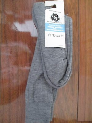 Vintage New Mens Ribbed Socks Wool Blend With Original Tag Sz:7-8