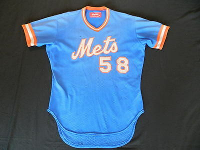 1984 New York Mets game used jersey