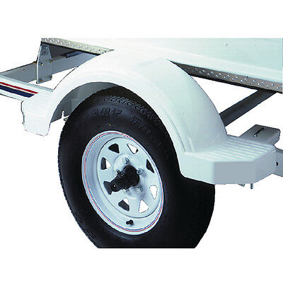 "White Poly Plastic PWC/Jet Ski Boat Trailer Fender for 12"" Tire Wheel"