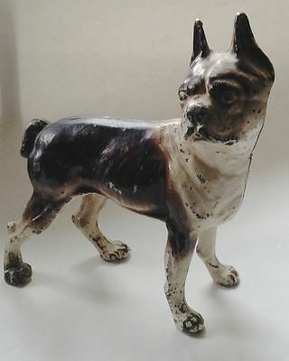 Antique Hubley Terrier Dog Door Stop Original Paint
