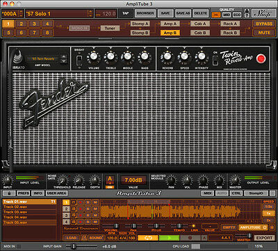 IK Multimedia Amplitube Fender Guitar Amp Effects (eDelivery)