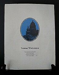 Texas Welcome Dinner Scarce 16 Page Program - Kennedy Assassination