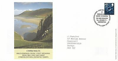 (92446) GB FDC Wales 40p - Cardiff 11 May 2004