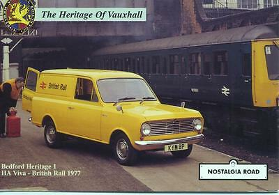 1977 Bedford HA Van British Rail unused Nostalgia Road postcard