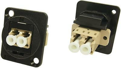 Cliff Electronic Components - CP30214 - Feedthru, LC Duplex Mm, Black Plastic