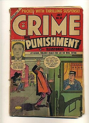 """Crime and Punishment 62 (FRG) 1953 Lev Gleason """"Squealer's Death"""" (c#09779)"""