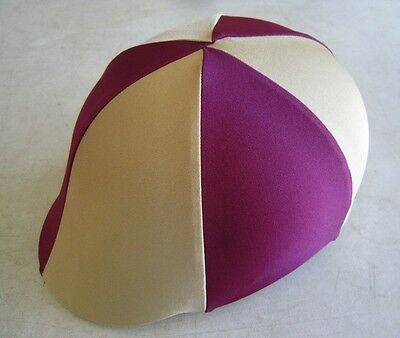 Horse Helmet Cover ALL AUSTRALIAN MADE Burgundy & Gold  Any size you need