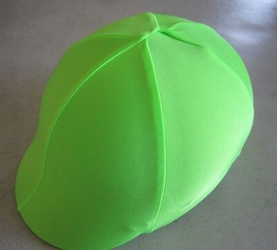 Horse Helmet Cover ALL AUSTRALIAN MADE Lime Green  Any size you need