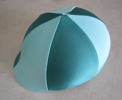Horse Helmet Cover ALL AUSTRALIAN MADE  Mint & Dark Green Any size you need