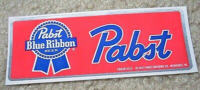 PABST BLUE RIBBON silver PBR LOGO STICKER decal craft beer brewery brewing