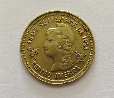 Extremely Rare 1895 Honduras Gold Peso AGW .0466 Grading XF       ONLY 43 MINTED
