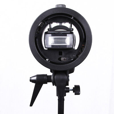 Godox Clase-S Soporte Elinchrom Segundos para Speedlite Flash Snoot Softbox